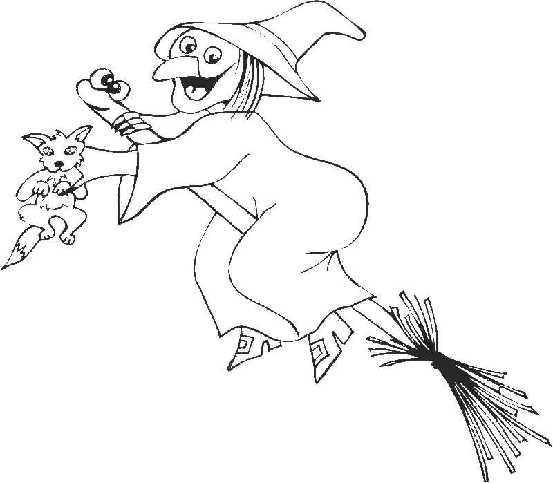 Witch Coloring Pages Photos