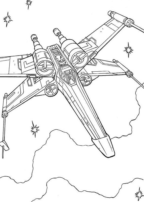 X-Wing Fighter - Star Wars Coloring Pages