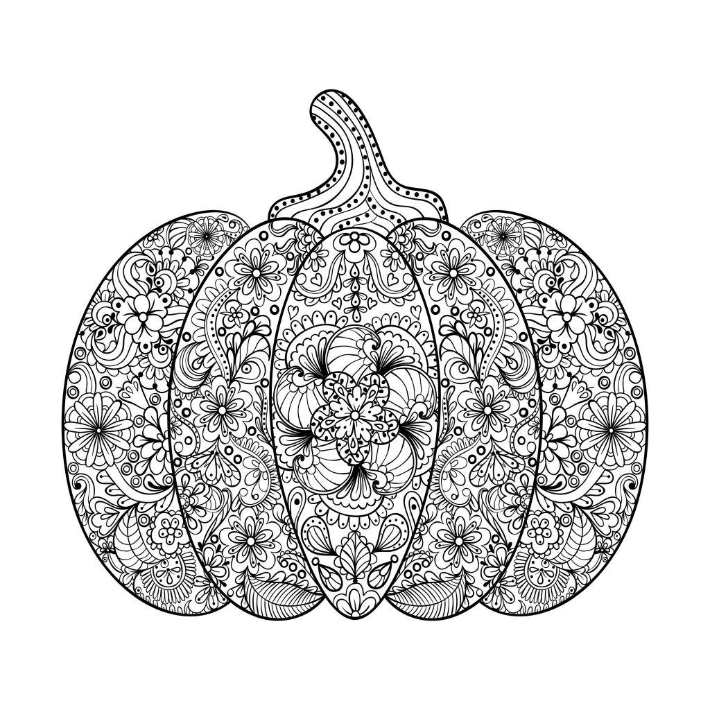 Zen Pumpkin Coloring Page
