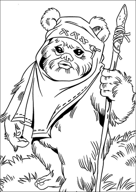 Star wars coloring pages ewoks coloring page
