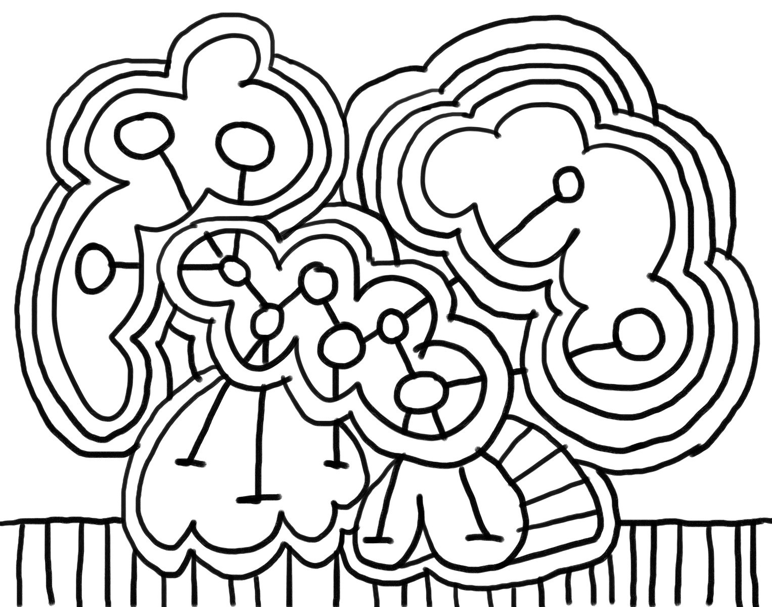 Free printable abstract coloring pages for kids for Black line coloring pages
