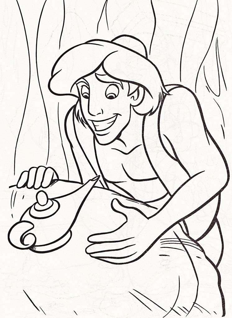 Aladdin Coloring Page Pictures