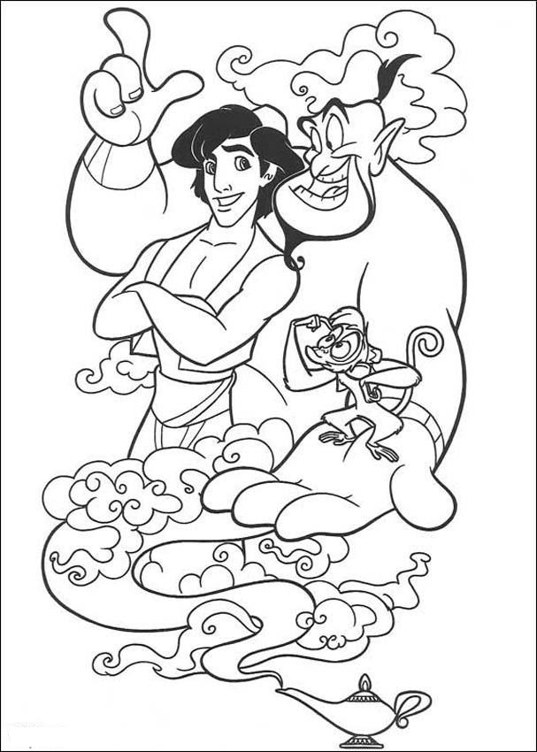 Free Printable Aladdin Coloring