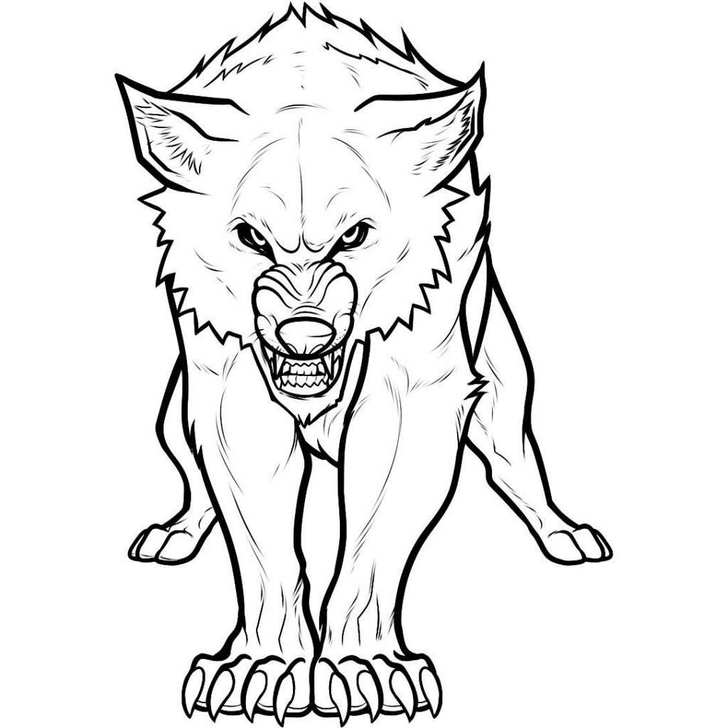 coloring pages wolves - photo#2