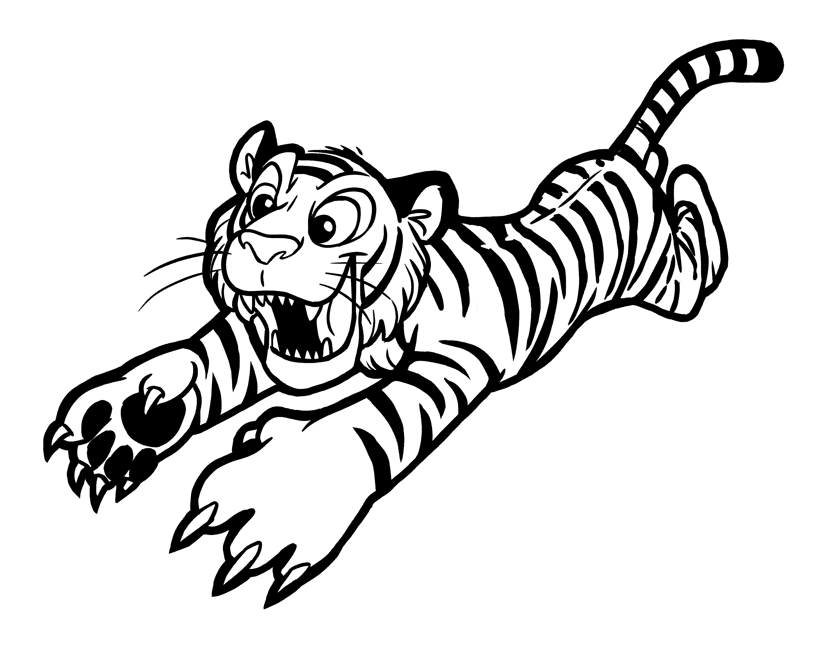 Perfect Baby Tiger Coloring Page