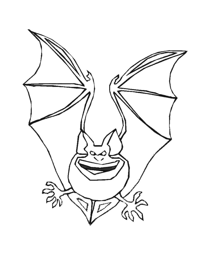 It's just an image of Accomplished Bats Coloring Pages