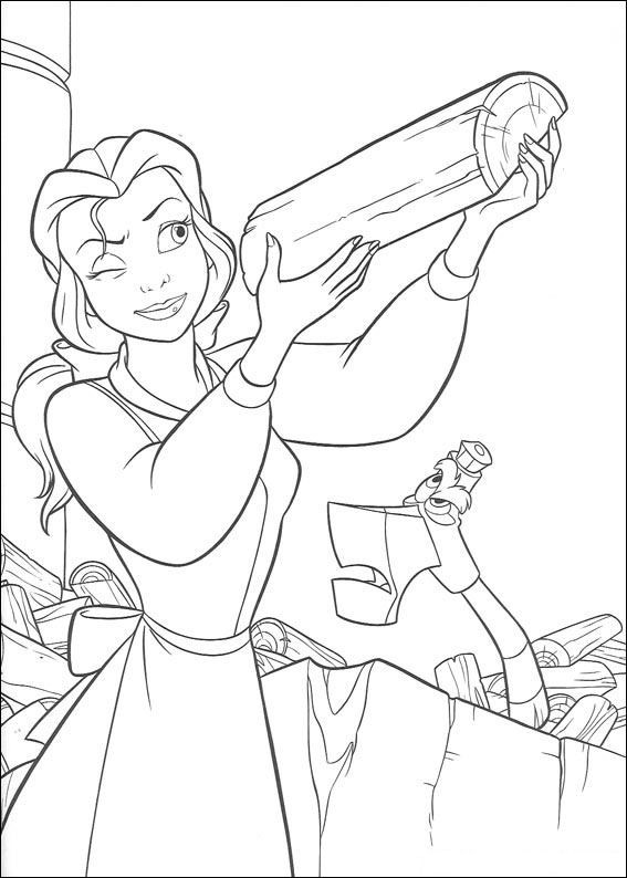 Beauty and The Beast Coloring Page Photos