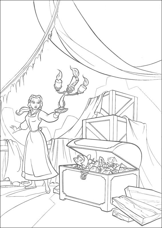 Beauty and The Beast Coloring Pages Printable