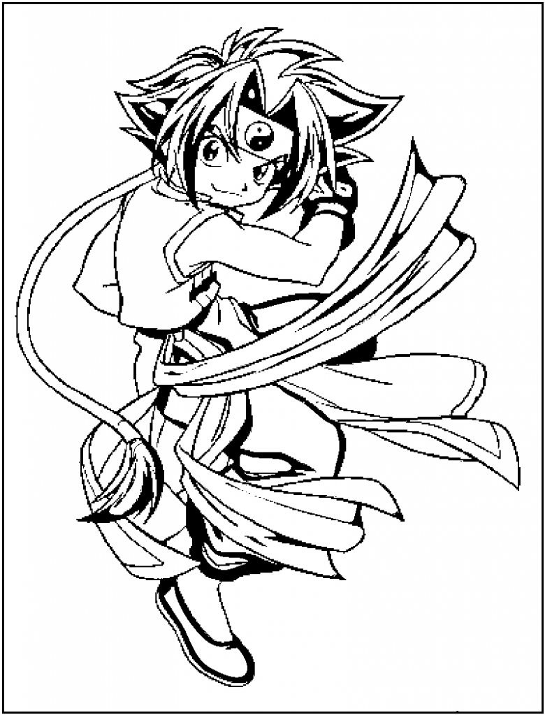 Beyblade Coloring Pages Online