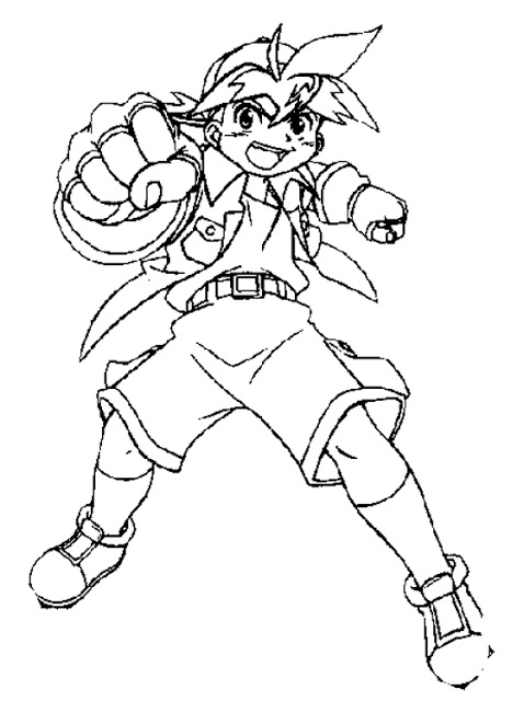 Beyblade Coloring Pages To Printable