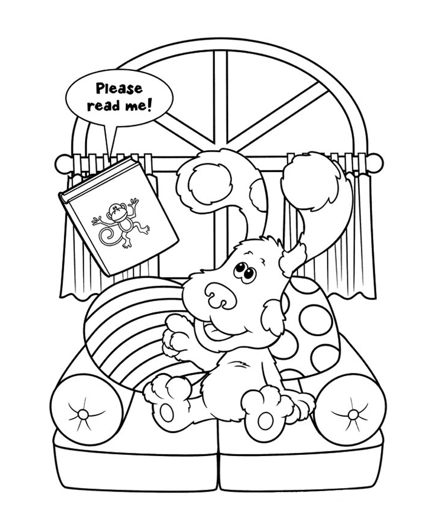 free blues clue coloring pages - photo#32