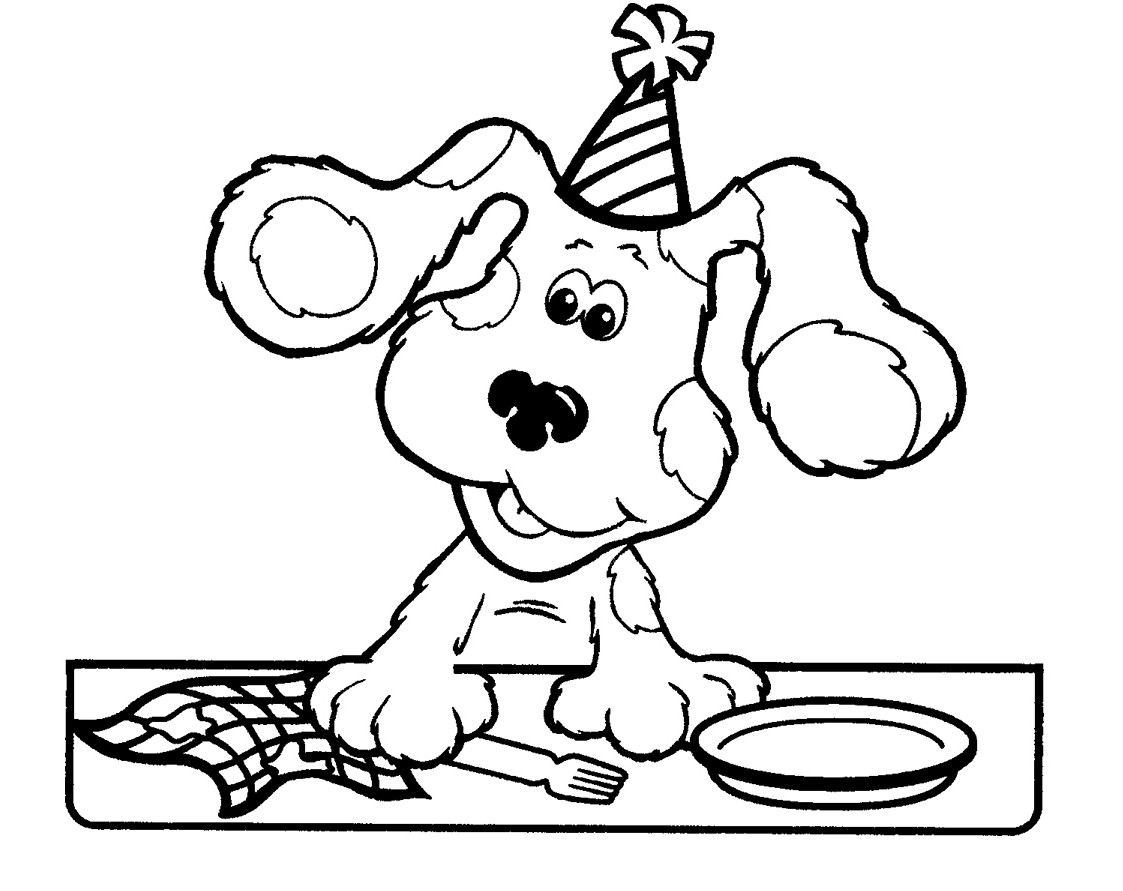 Coloring: Free Printable Blues Clues Coloring Pages For Kids