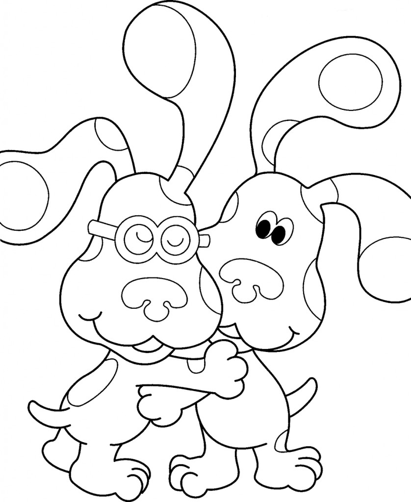 free printout coloring pages | Free Printable Blues Clues Coloring Pages For Kids