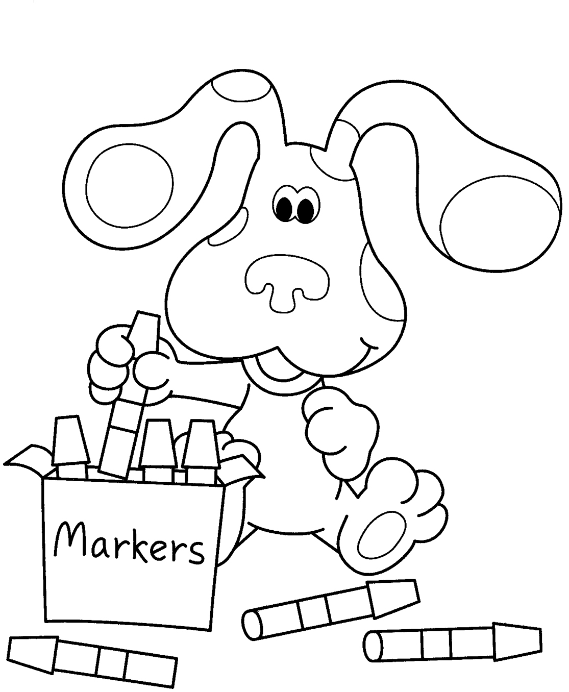 Free printable blues clues coloring pages for kids for Wallykazam coloring pages