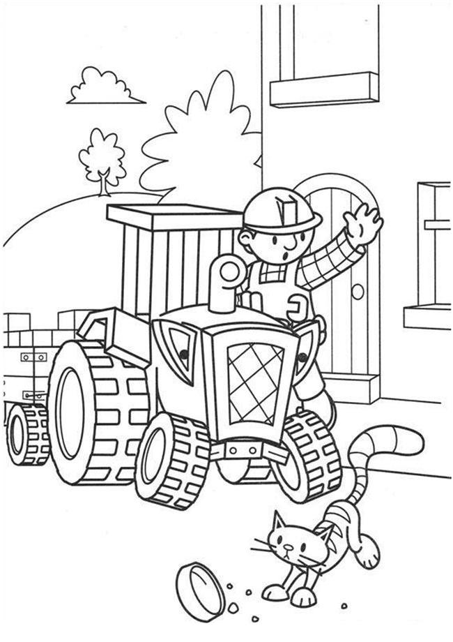 Bob The Builder Coloring Page Photos