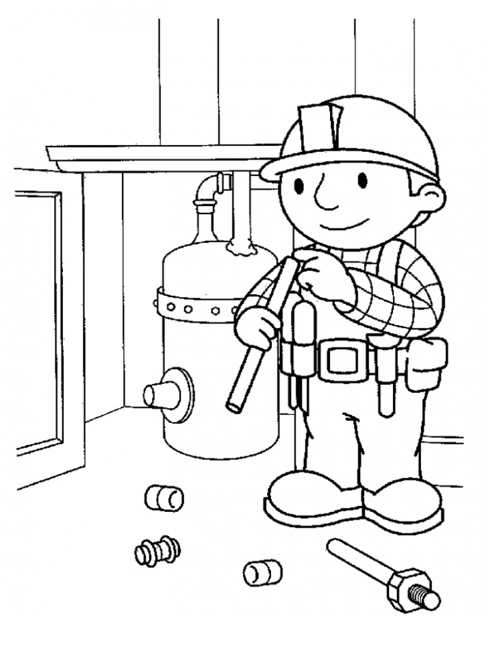 Bob The Builder Coloring Page Pictures