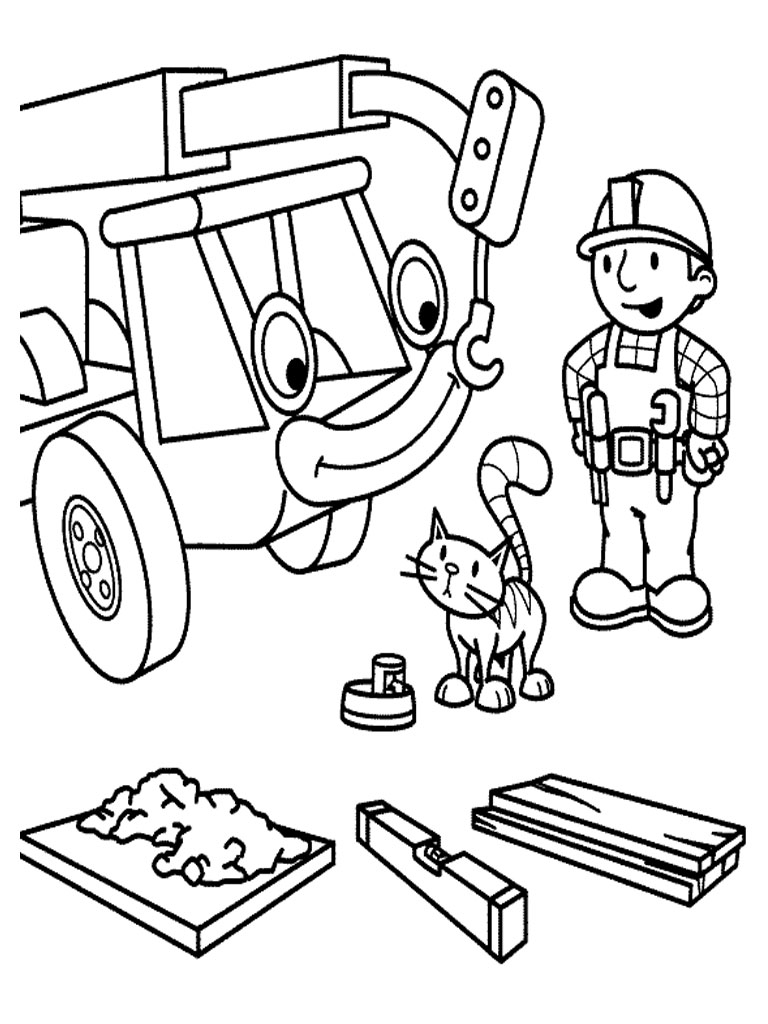 Bob The Builder Coloring Pages Kids