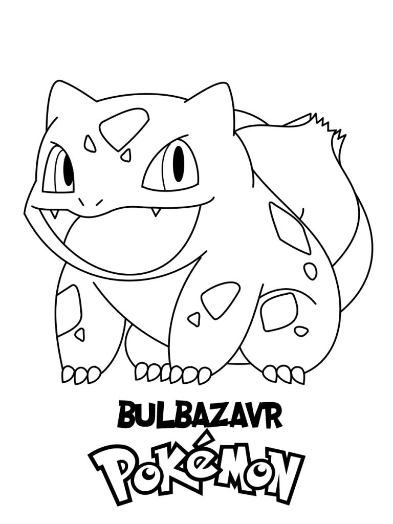 Bulbazaur Pokemon Coloring Page