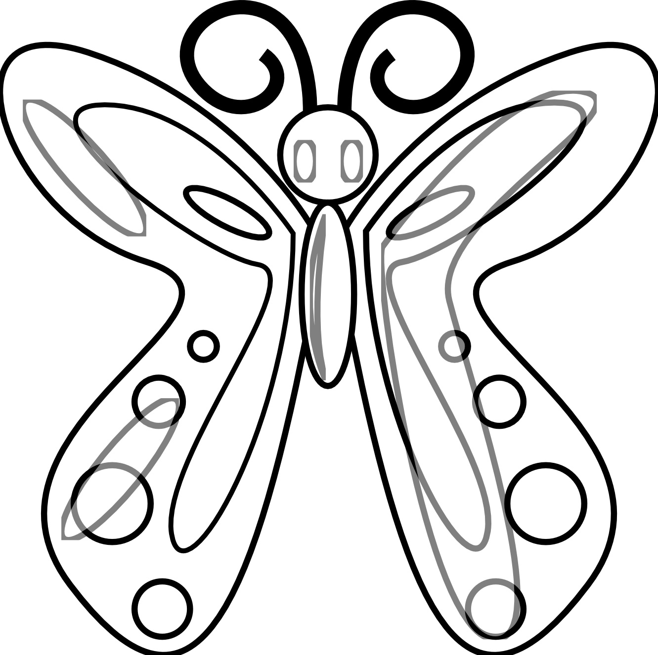 Free Printable Butterfly Coloring Pages For Kids - photo#31
