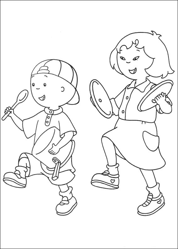 Caillou Coloring Pages Images