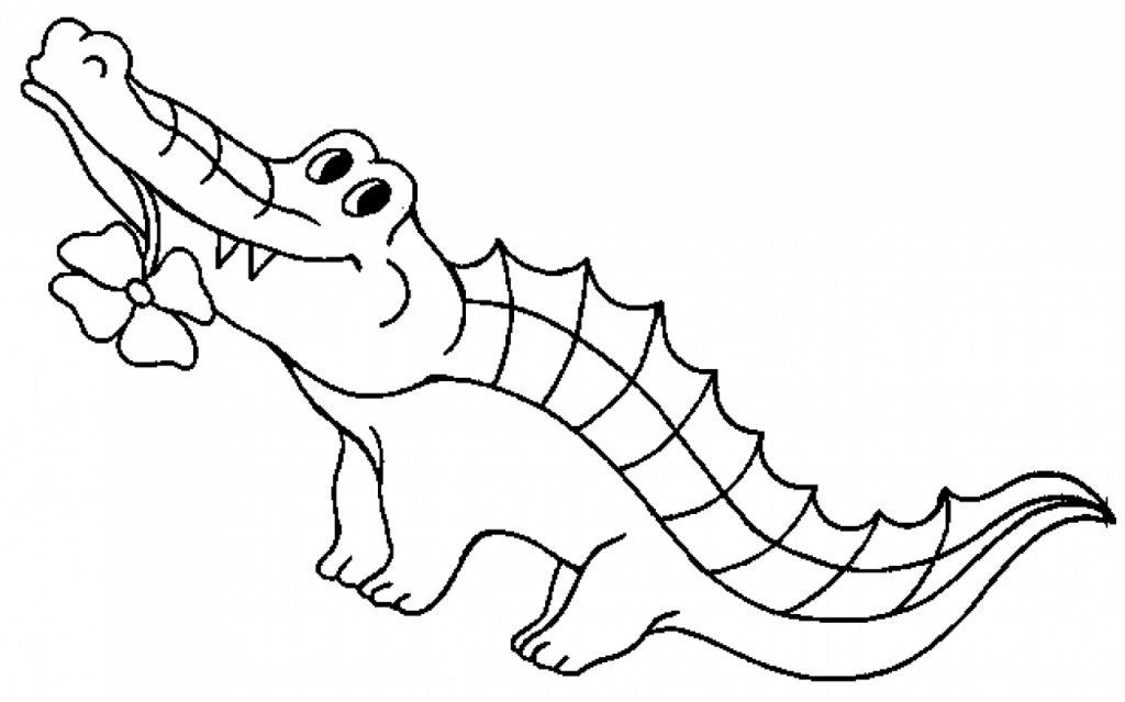 Cartoon Crocodile Coloring Pages