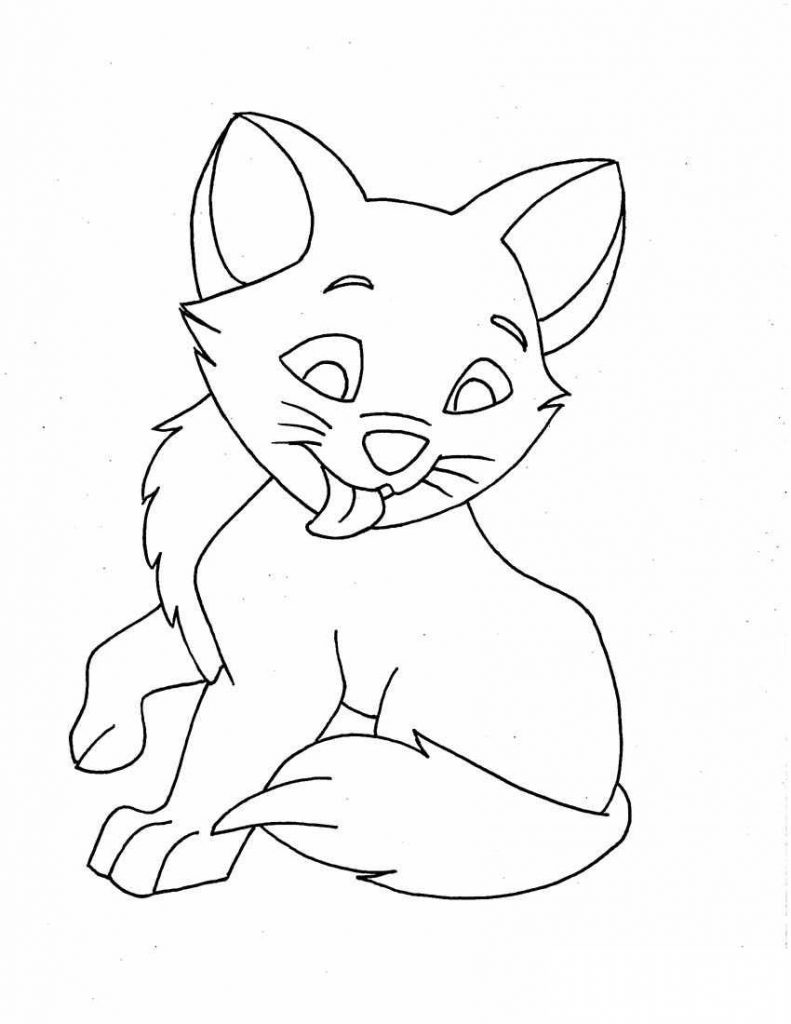 cat pages for coloring - photo#11