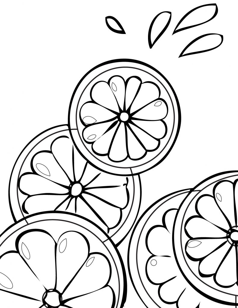 Citrus Fruit Coloring Page