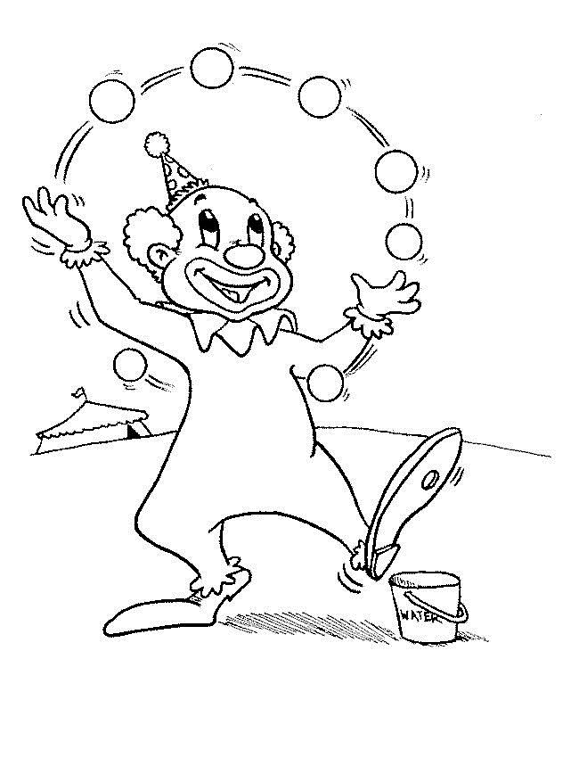 Clown Coloring Page Pictures