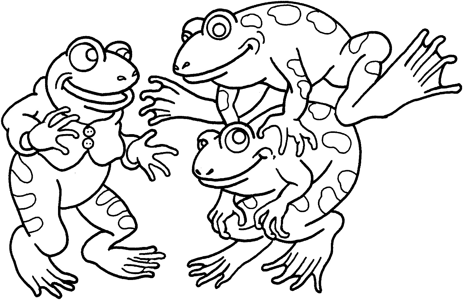 Elegant Coloring Page Of Frogs