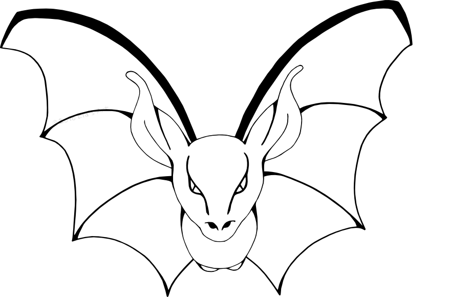 It is a picture of Invaluable Bats Coloring Pages