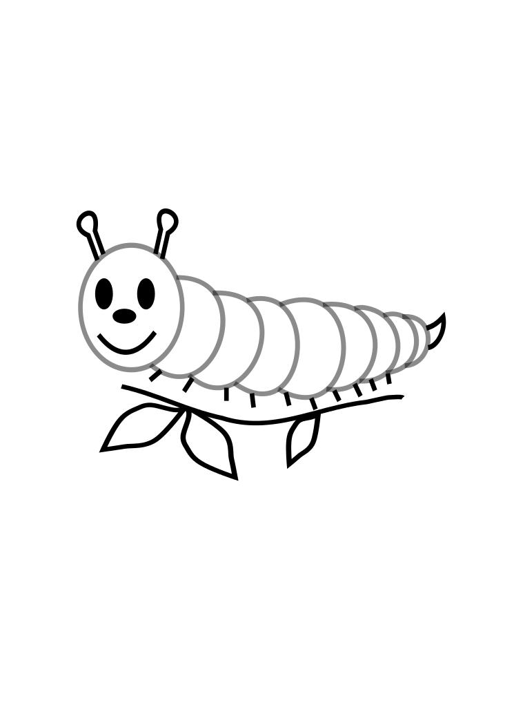 - Free Printable Caterpillar Coloring Pages For Kids