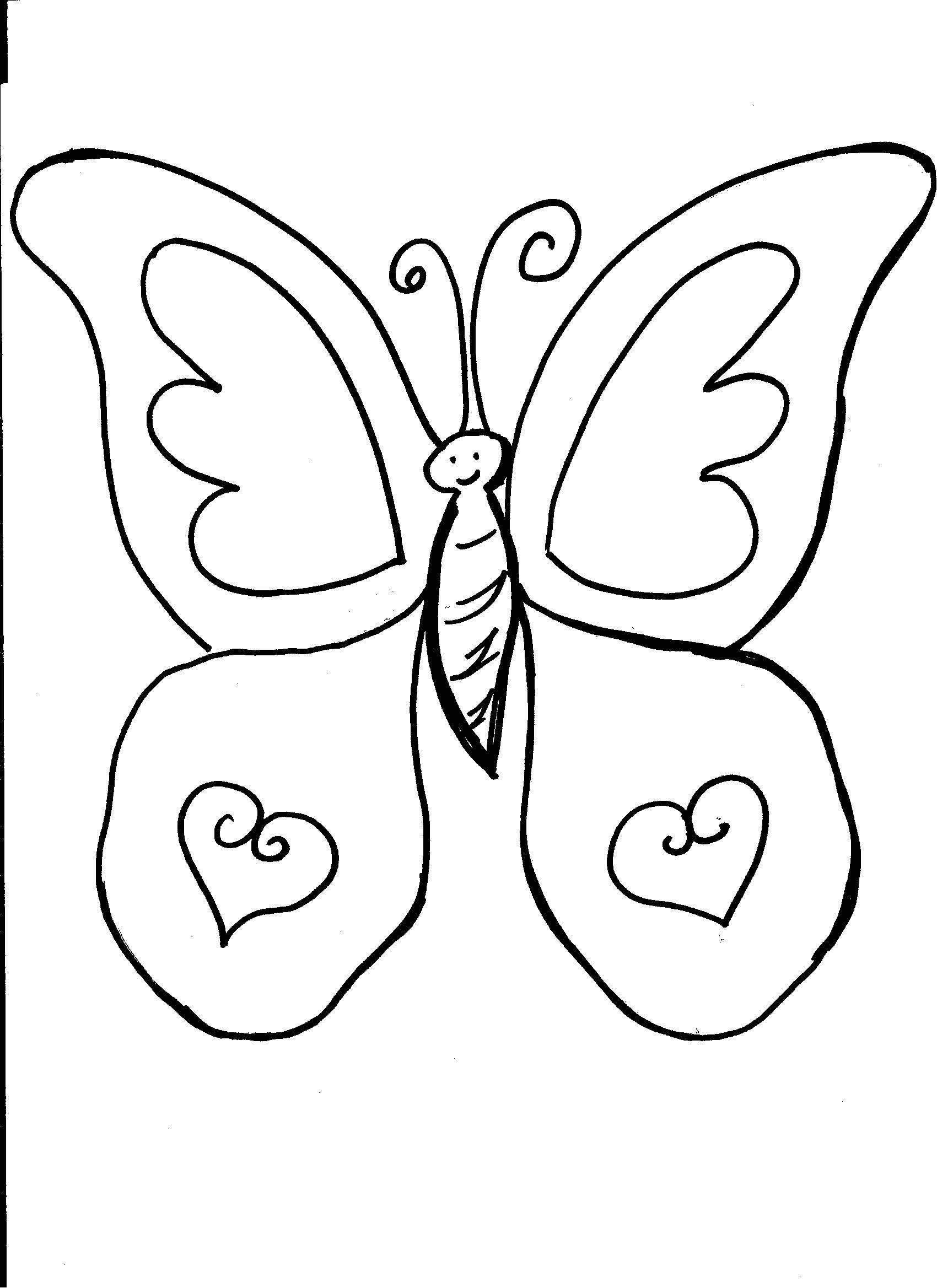 coloring pages butterflies - photo#35