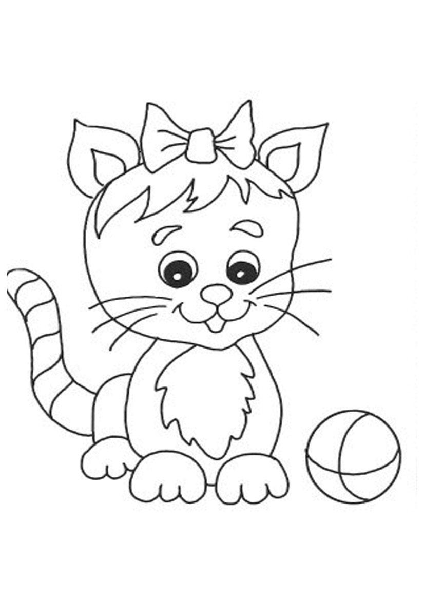 Free printable cat coloring pages for kids for Best coloring pages for kids