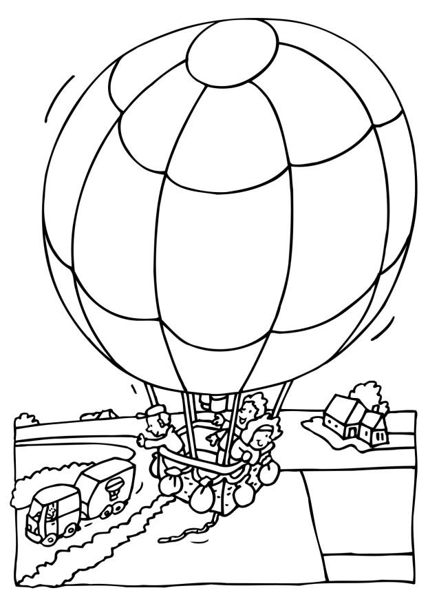 Coloring Pages Hot Air Balloon