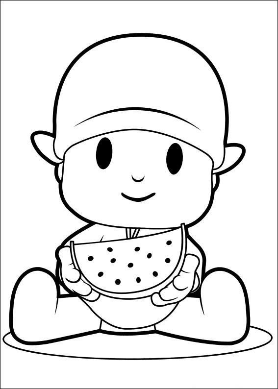 Coloring pages pocoyo