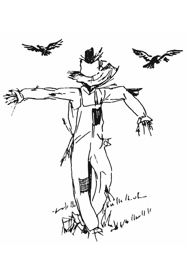 Coloring Pages Scarecrow Pictures
