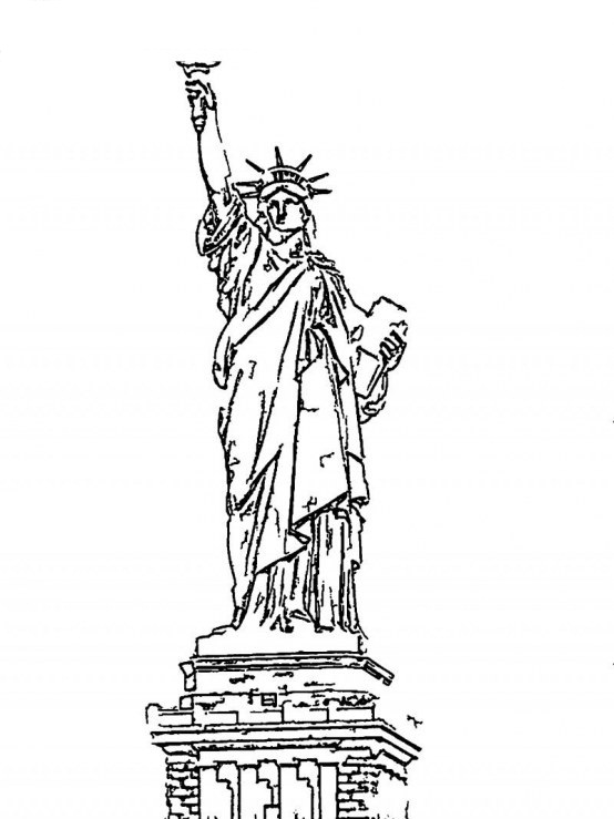 Dynamite image in printable statue of liberty template