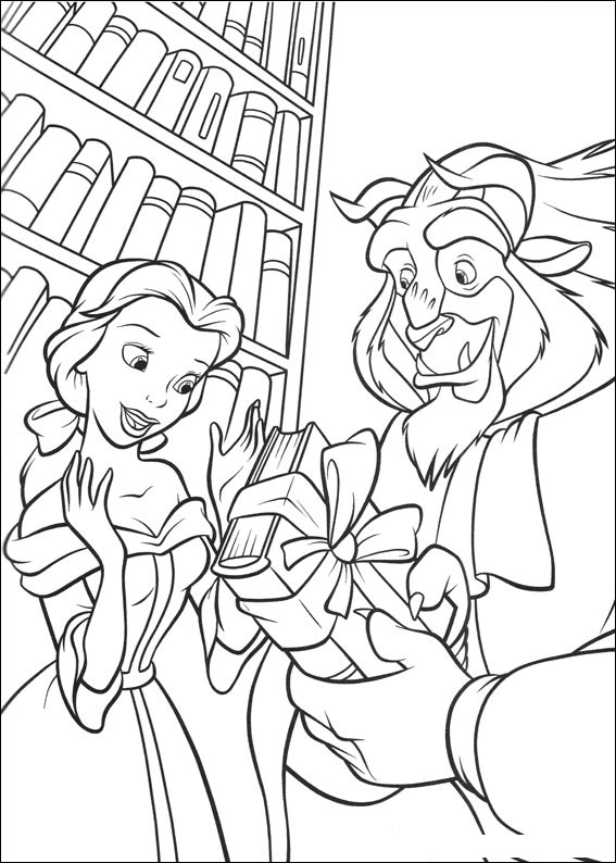 Coloring Pages of Beauty and The Beast For Kids