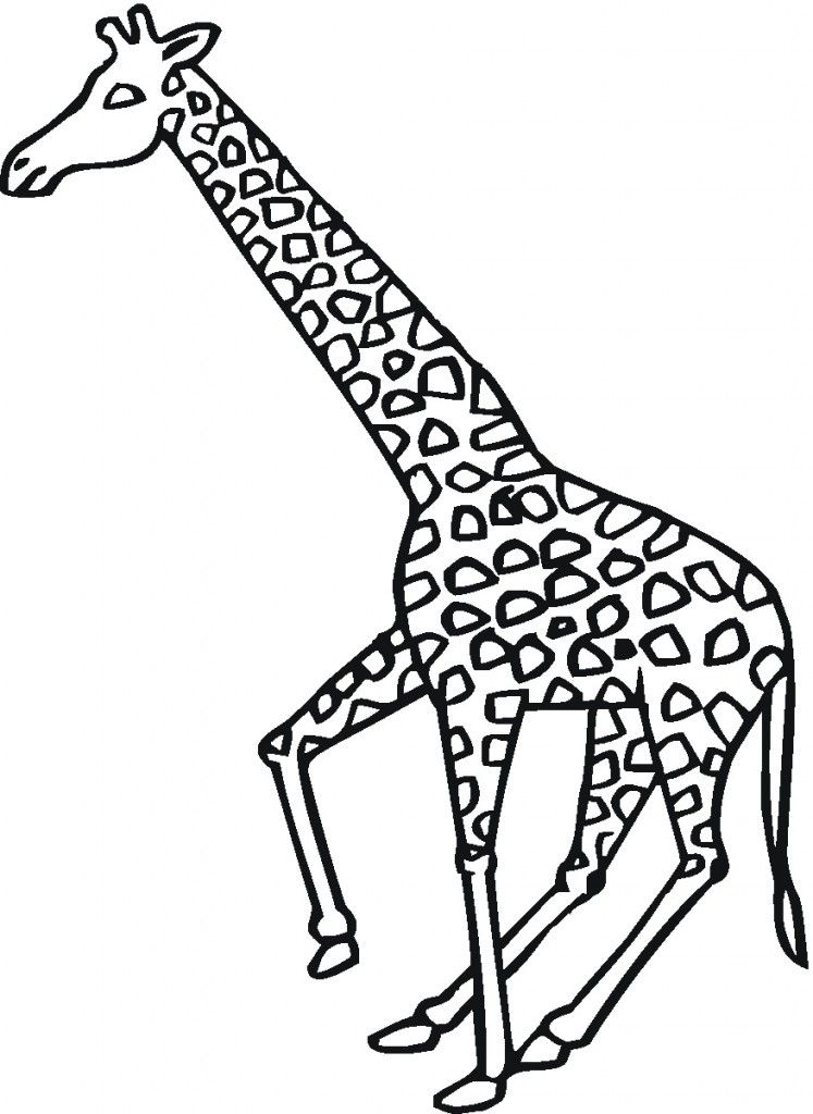 Coloring Pages of Giraffes For Kids