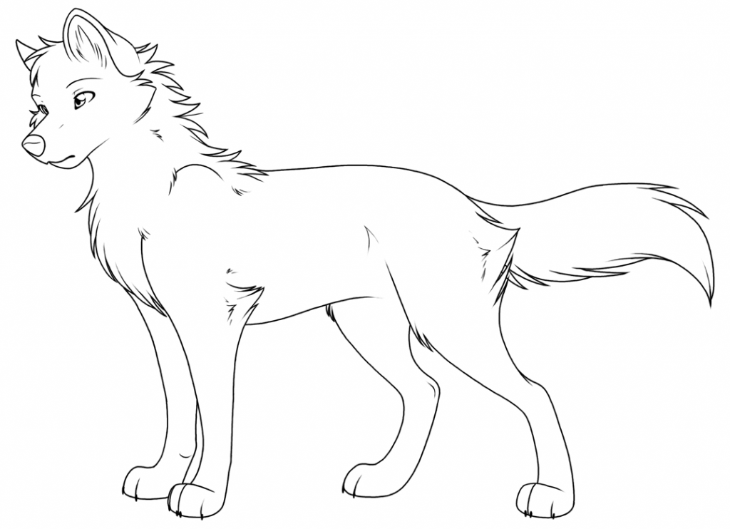 Coloring Pages Of Baby Wolves