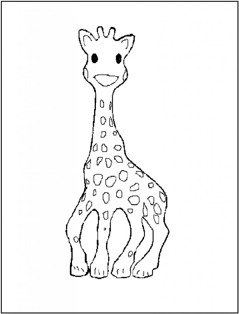 Cute Giraffe Coloring Page