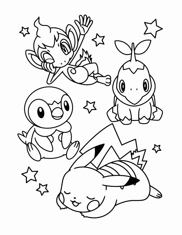 Free Piplup Coloring Page, Download Free Clip Art, Free Clip Art ... | 826x640