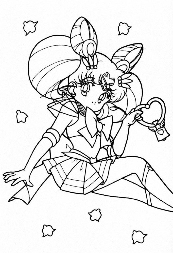Free printable sailor moon coloring pages for kids for On coloring pages