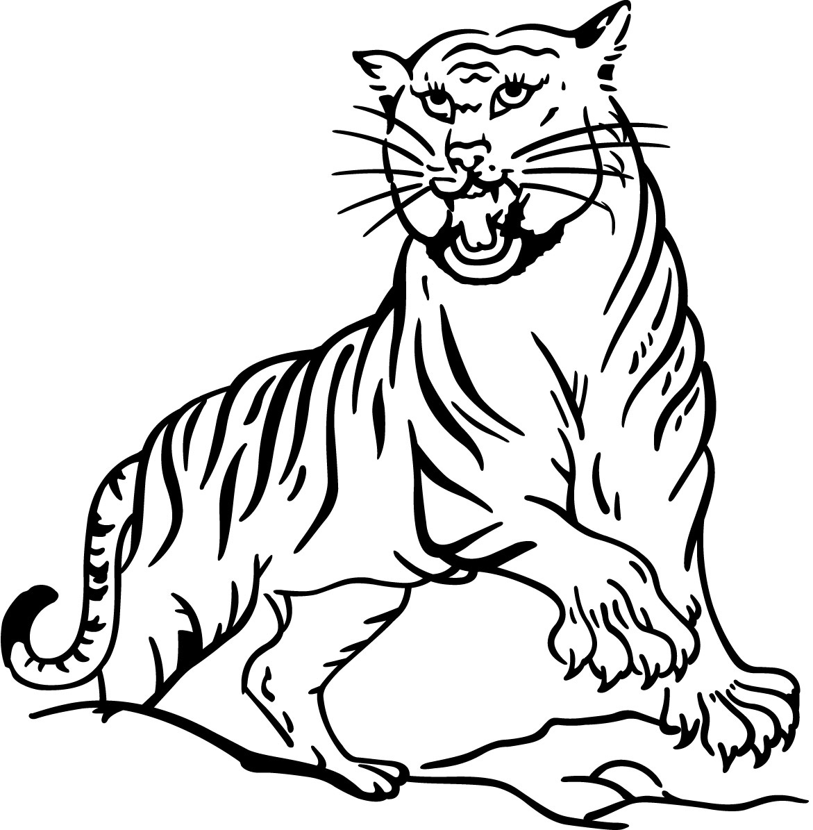 Free printable tiger coloring pages for kids for Fun coloring pages for kids
