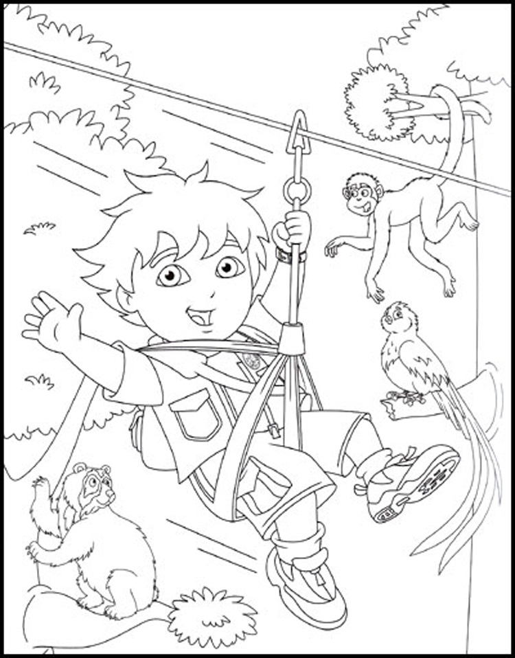 Dora Coloring Pages | Diego Coloring Pages | 958x750
