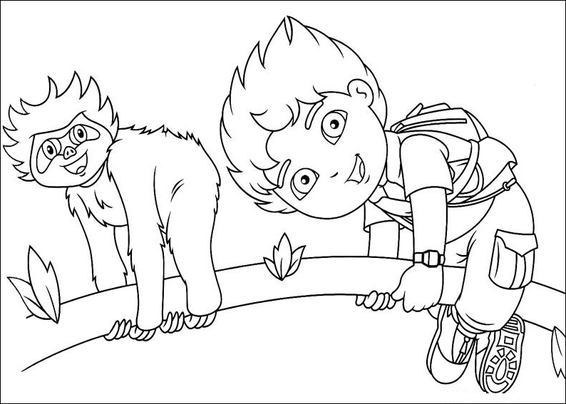 Diego Coloring Pages For Kids