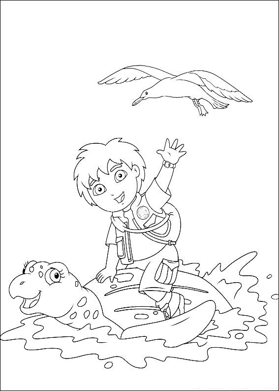 diego christmas coloring pages - photo#12