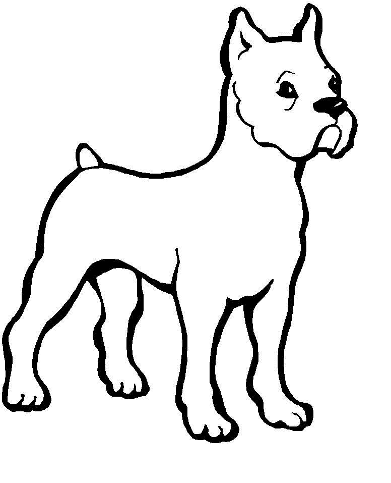 free coloring dog pages - photo#26