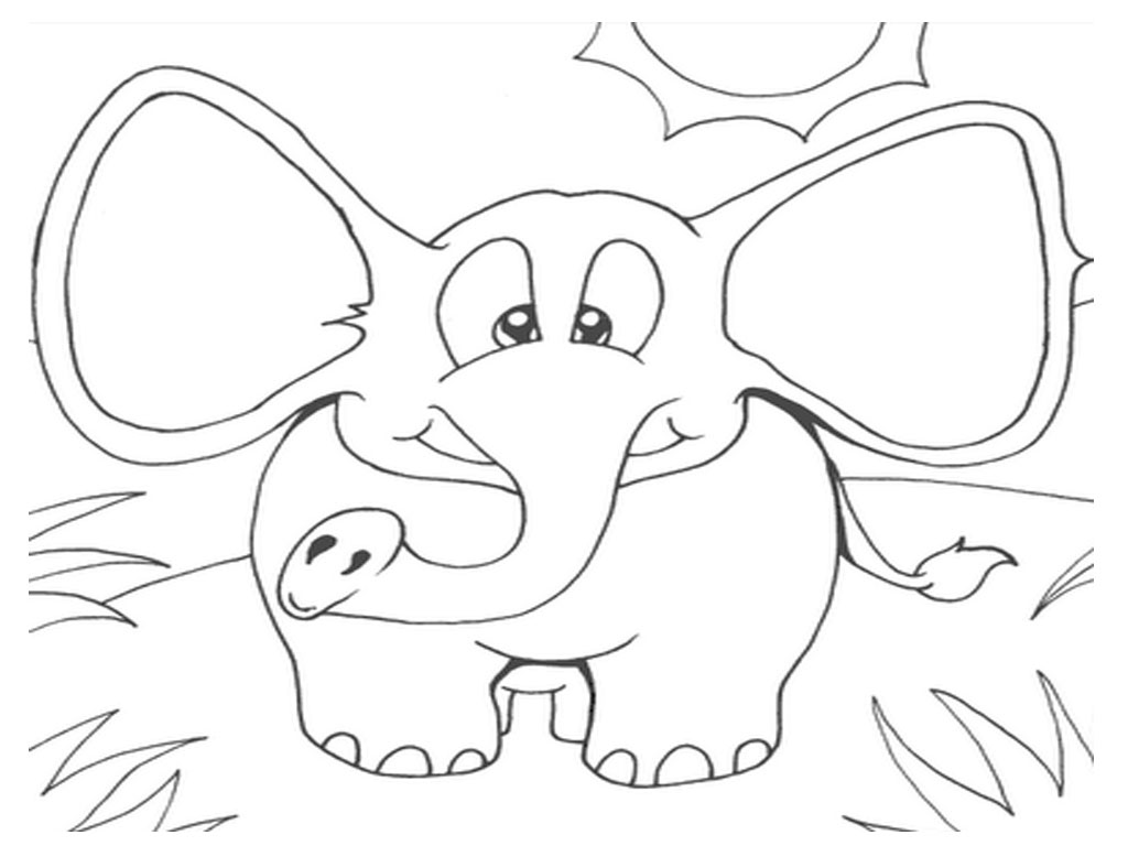 Elmer The Elephant Coloring Page