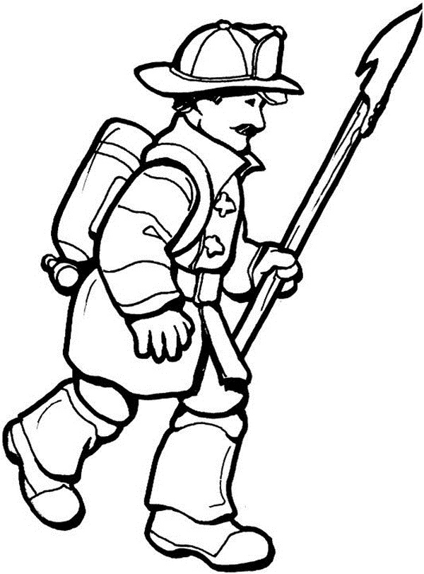 Firefighter Coloring Pages Printable